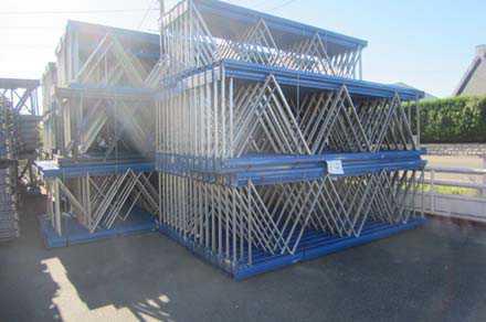 Rack stockage occasion bleu metal