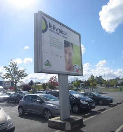 Panneau publicitaire parking occasion
