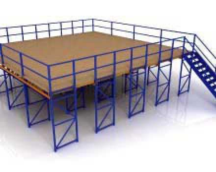 Plateforme mezzanine en kit mezzanine t avec escalier for Plateforme mezzanine en kit